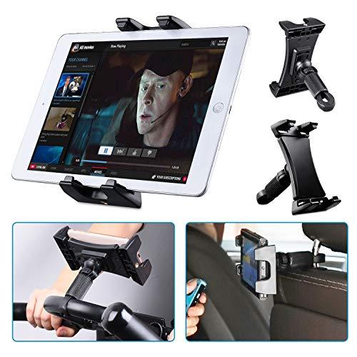 Tendak Soporte de Bicicleta estática para Tablet, portátil Reposacabezas Caminadora Ejercicio Gimnasio Manillar Micrófono Soporte 360° Ajustable para iPad Pro, iPad Mini 4.7-12.9' Tabletas Teléfono