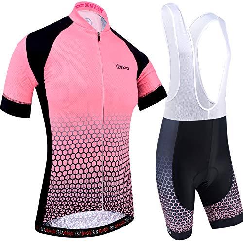 BXIO Maillot Ciclismo Mujer, Ciclismo Conjunto de Ropa con Culotte Pantalones Acolchado 3D para...*