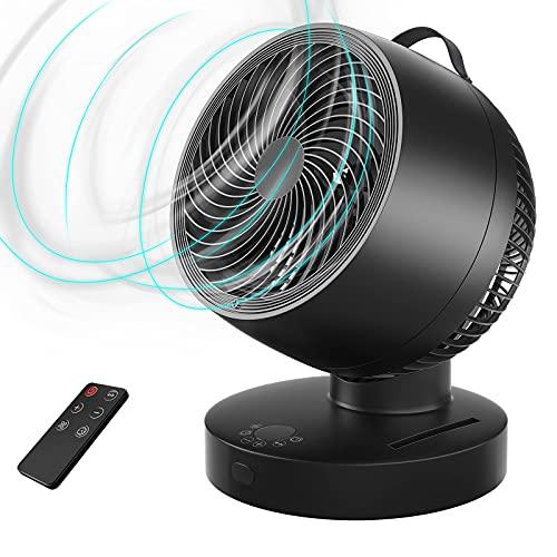 Ventilador Circulación de Aire,Diámetro 33cm Ventilador de Mesa con Control Remoto,6 Velocidades,4...*