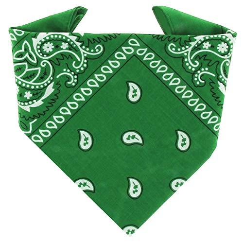...KARL LOVEN - Bandana 100% algodón - Paisley Verde - Pañuelo para el cuello, cabeza bufanda para...*