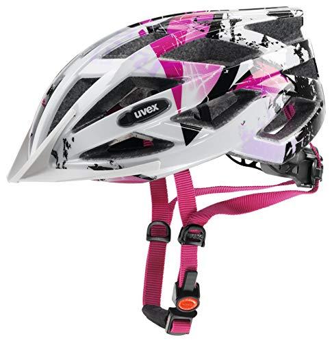 Uvex Fahrradhelm Air Wing Casco de Bicicleta, Mujer, White-Pink, 52-57 cm*