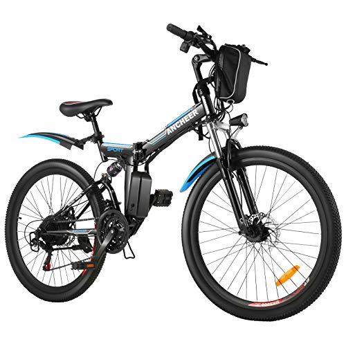 ANCHEER Bicicleta Eléctrica Plegable 26 Pulgadas, Batería de Litio 36 V 8 Ah, Motor Sin Escobillas...*