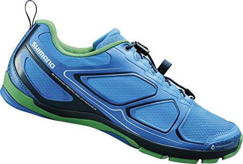 SHIMANO E-SHCT71B - Zapatillas de Ciclismo de sintético para Mujer Azul Blau (Blue) Talla:38 EU