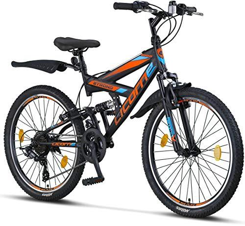 Licorne Bike Strong V - Bicicleta de montaña de 24 Pulgadas Fully, para Bicicleta de montaña de...*