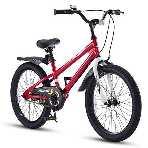 RoyalBaby Bicicletas Infantiles niña niño Freestyle BMX Bicicleta para niños 20 Pulgadas Rojo*