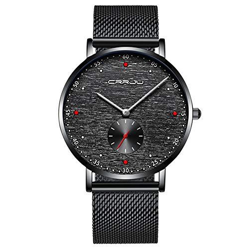Relojes para Hombres Marca de Gama Alta Diseño de Esfera pequeña única Relojpara Hombres Relojes Deportivos con Estilo portátiles Relojes de Cuarzo Impermeables para Hombres
