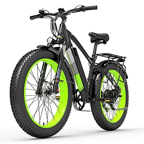 XC4000 1000W 48V Bicicleta eléctrica, Bicicleta de Nieve de 26 Pulgadas Bicicleta de neumático...*
