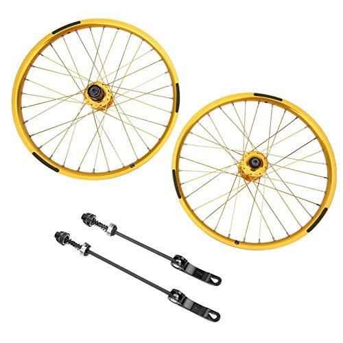 PBOHUZ Juego de Ruedas de Bicicleta -1 par Juego de Ruedas de Bicicleta 32 Agujeros BMX Juego de...*