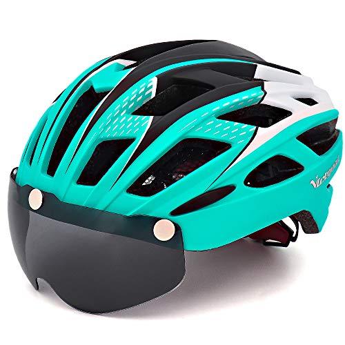 VICTGAOL Casco Bicicleta Helmet Bici Ciclismo para Adulto con Luz Trasera LED Visera Extraíble...*