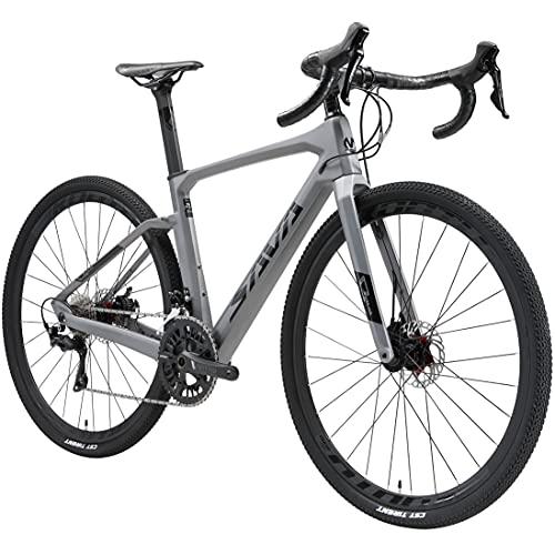 SAVADECK Bicicleta Carretera Carbona Gravel, 700CX40C Trail de Carbono Grava con Shimano 105 R7000...*