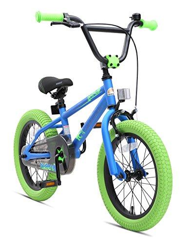 BIKESTAR Bicicleta Infantil para niños y niñas a Partir de 4 años | Bici 16 Pulgadas con Frenos |...*