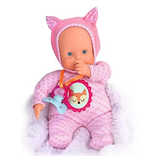 Nenuco - Blandito 5 Funciones Rosa, hace sonidos como un bebé de verdad, se ríe, llora, dice mamá...*