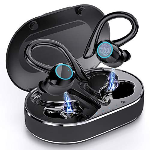 Auriculares Inalambricos Deporte, Andfive Auriculares Bluetooth 5.1 con Microfono Cascos Inalambricos IP7 Impermeable, Carga Rápida USB-C, CVC8.0 Cancelación de Ruido Auriculares Running [Actualizado]