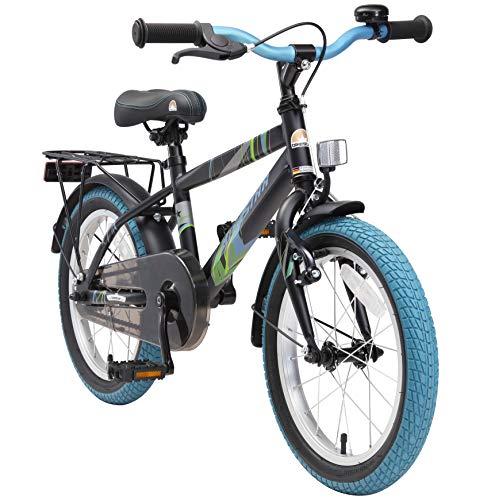 BIKESTAR Bicicleta Infantil para niños y niñas a Partir de 4 años | Bici 16 Pulgadas con Frenos | 16' Edición Moderna Negro