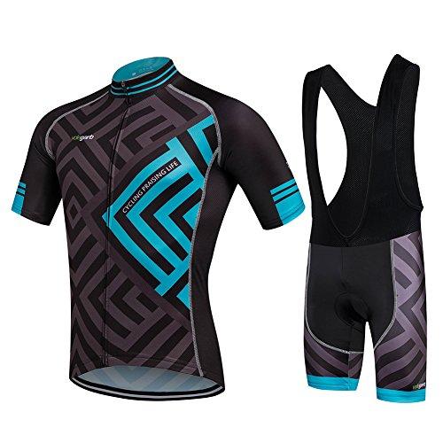 Cornasee Ropa Ciclismo Verano para Hombre Ciclismo Maillot y Culotte Pantalones Cortos (Enrejado,L)*