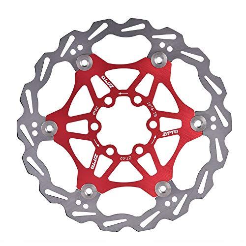 Vbest life 160mm 6 Pernos Bicicleta de montaña Tipo de Pastilla de Freno Flotante Disco de Freno de Bicicleta Rotor Pad Accesorio de Ciclismo(Rojo)