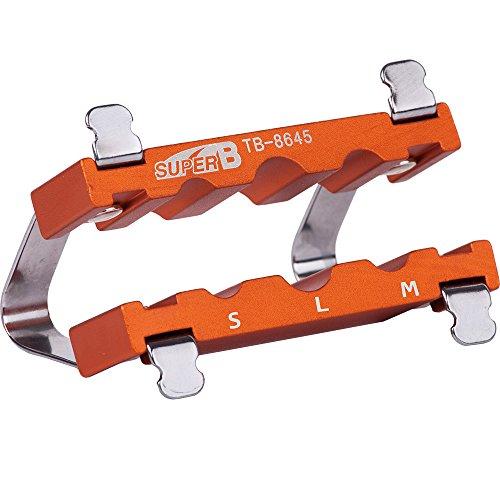 Super B Adaptador de Pedal para Eje TB 8645, Unisex Adulto, Naranja