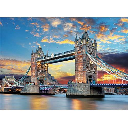 GuDoQi Puzzle 1000 Piezas Puente De Londres Puzzle para Adultos Rompecabezas Edificio de la Ciudad...*