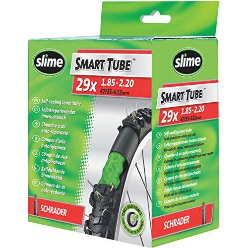 Slime 30078 Cámara Interior de Bicicleta con Sellante de Pinchazos Slime, Sellado Autónomo, Prevenir y Reparar, Válvula Schrader, 47/55-622mm (29 x 1,85-2,20')