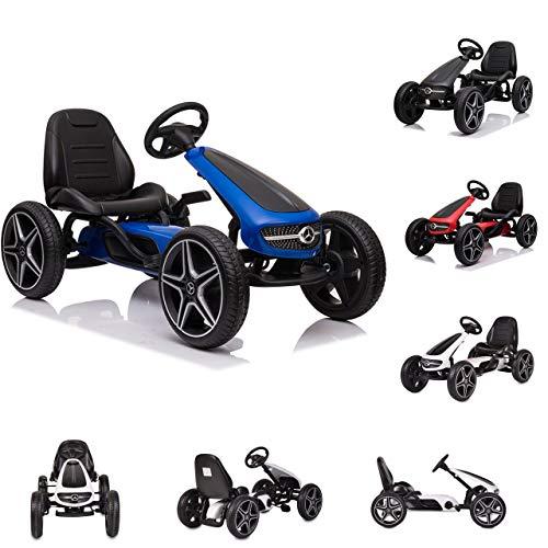 Moni Kart Infantil Mercedes-Benz neumáticos de plástico EVA Freno música Pedales, Colores:Azul
