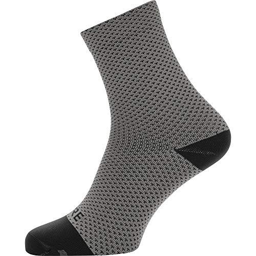 GORE WEAR C3 Calcetines para ciclismo unisex, Talla: 41-43, Color: gris/negro