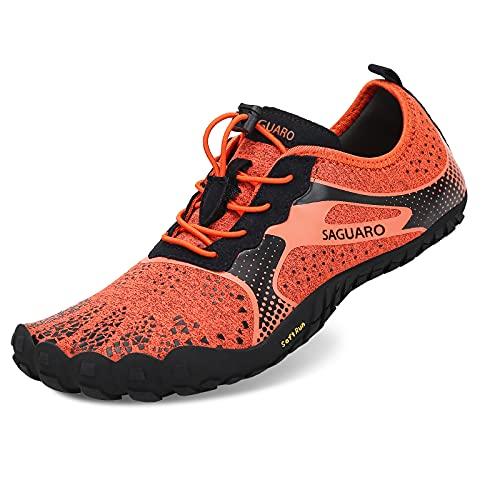 Zapatos de Agua para Hombre Mujer Buceo Snorkel Surf Piscina Playa Vela Mar Río Cycling Deportes Acuáticos Calzado de Natación Naranja 42