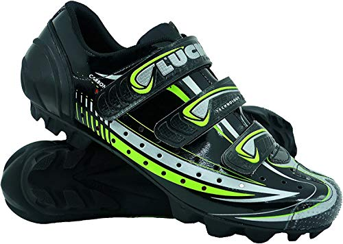 LUCK Zapatilla de Ciclismo Master, con Suela de Carbono y Triple Tira de Velcro para una sujeción (44 EU)