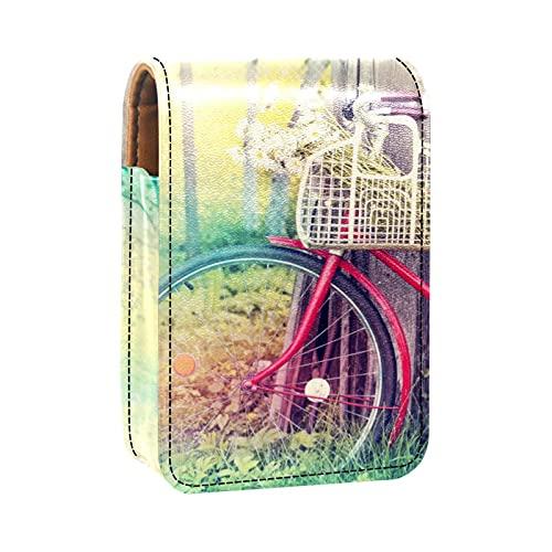 qfkj Caja de Almacenamiento de lápiz Labial Caja de Embalaje,Bicicleta rústica al Atardecer