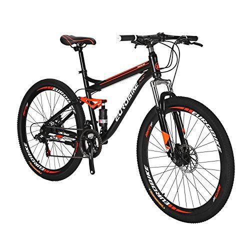 Mountain Bikes S7 27.5 pulgadas 21Speeds doble freno de disco suspensión completa bicicleta de montaña MTB BlackOrange