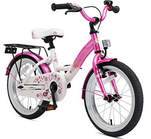 BIKESTAR Bicicleta Infantil para niños y niñas a Partir de 4 años   Bici 16 Pulgadas con Frenos   16' Edición Clásica Rosa