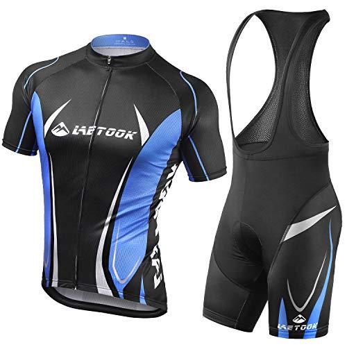 Letook Maillots de Ciclismo Hombres Conjunto de Ropa para Ciclismo Camiseta y Culotte Bici XL*