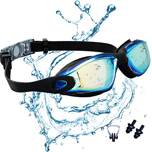 JINPXI Gafas de Natación Antiniebla, Gafas para Nadar Protección UV Lentes HD Silicona Ajustables...*