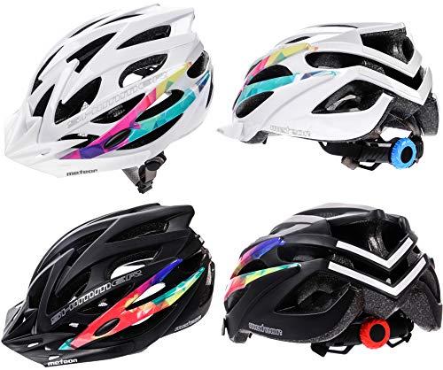 meteor® Casco Bicicleta Helmet de Bici para Jovenes y Adultos Helmet Ciclismo Patineta Skate Patines Monopatines Bici Accesorios El diseño Ligero Muchos Patrones Shimmer