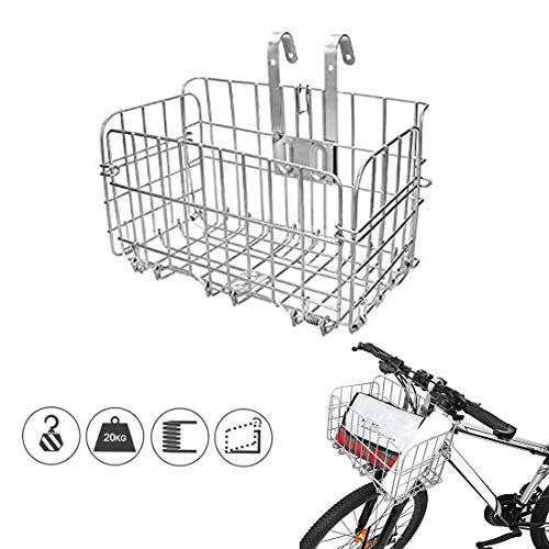 CEASELESLY Cesta de Bicicleta Delantera,Cesta De Bicicleta Plegable,Canasta de Manillar de Bicicleta Multiusos Extraíble para Porta Mascotas,para Diferentes Bicicleta Plegable y Mountain Bike.
