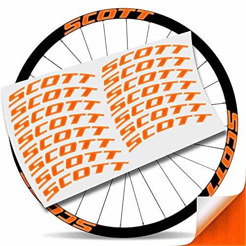Kit Pegatinas Pegatinas Stickers LLANTA Scott 29' BTT MTB (Naranja Reflectante)