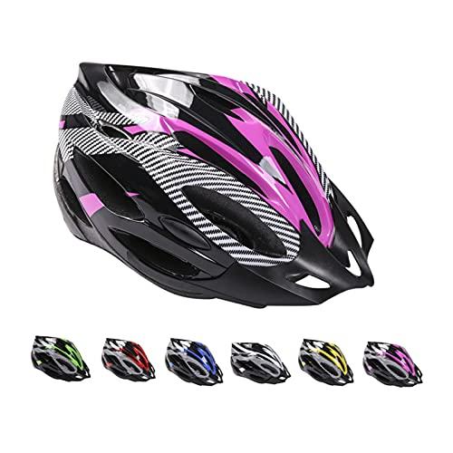 Casco de Bicicleta de Montaña, Casco de Bicicleta para Adultos Casco Ajustable con Visera Extraíble Casco de Bicicleta MTB City Specialized para Bicicleta de Montaña y para Hombres y Mujeres Rosa