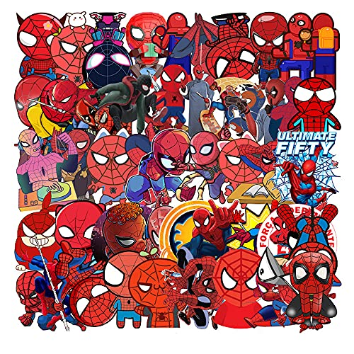 Pegatinas de Spiderman 114 Piezas Pegatinas Decorativo Spider Man Paquete de Pegatinas Multicolor para Niños Adulto Portátiles Bicicletas Monopatines