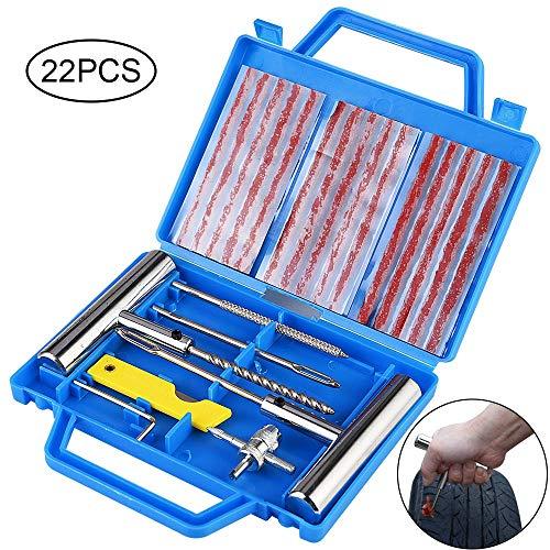 Faburo Kit de Reparación de Neumáticos, Kit Repara Pinchazos Pequeño Herramienta de Reparación...*