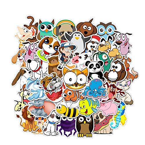 Pegatinas para niños, pegatinas infantiles, animales granja, pegatinas letras infantiles, salvajes,animales de aprendizaje en el juego, 50 piezas con una caja clara para un fácil almacenamiento