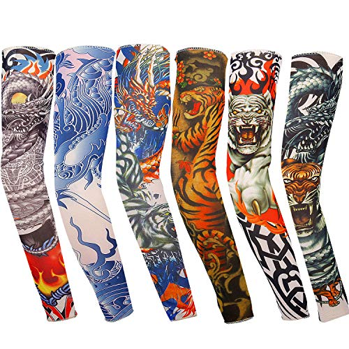 Vordas Mangas Tatuadas, 6PCS Tatuajes Temporales Brazo Medias Falso Tatuaje Temporal Mangas, Ideal...*