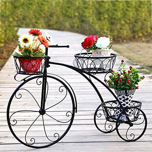 Puesto De Flores Soporte De Maceta - Hierro Forjado Bicicleta Moldeado Metal Maceta Poseedor...*