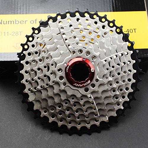 FOMTOR 9 Speed Cassette 11 – 40 Cassetta a 9 velocità per mozzo Shimano MTB Mountain Bike Bicicletta MTB (Leggero)
