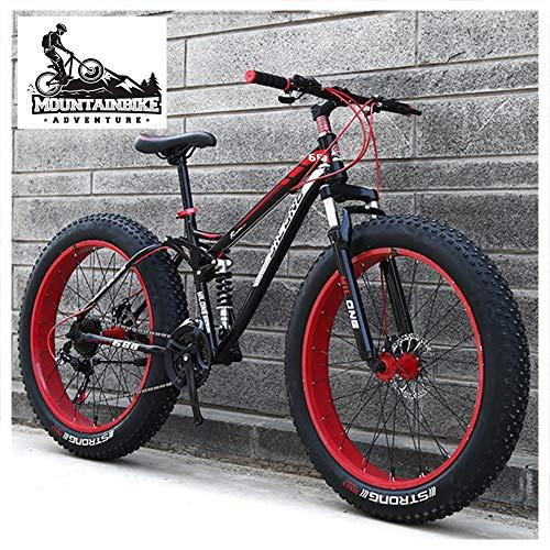 NENGGE Doble Suspensión Bicicleta Montaña para Adulto Hombre Mujer, Neumático Gordo MTB...*