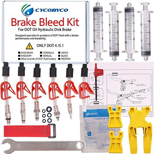 Cycobyco DOT - Kit de freno de disco de aceite para bicicleta, herramienta para Avid sram, Dode, Juicy, Hope, Bngal, Hayes, fórmula J3 J5 J7, Genaral kit