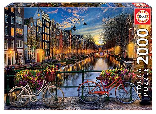 Educa - Ámsterdam paisajes y Lagos Puzzle, 2000 Piezas, Multicolor (17127)