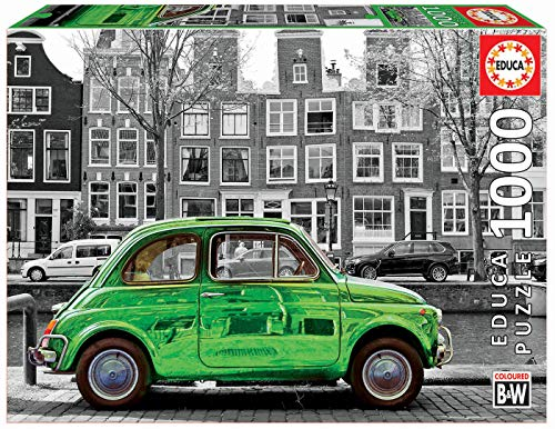 Educa - Coche en Ámsterdam Puzzle, 1000 Piezas, Multicolor (18000)