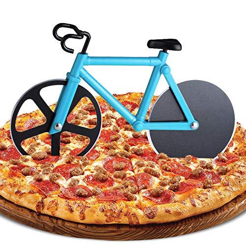ZAWTR Bicicleta Cortador de Pizza, Rueda de Cortador de Pizza de Acero Inoxidable con Revestimiento...*