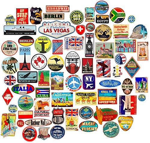 85x Pegatinas de Equipaje Parches de Maleta Etiquetas de Viaje Vintage vinilos de Estilo Vintage...*