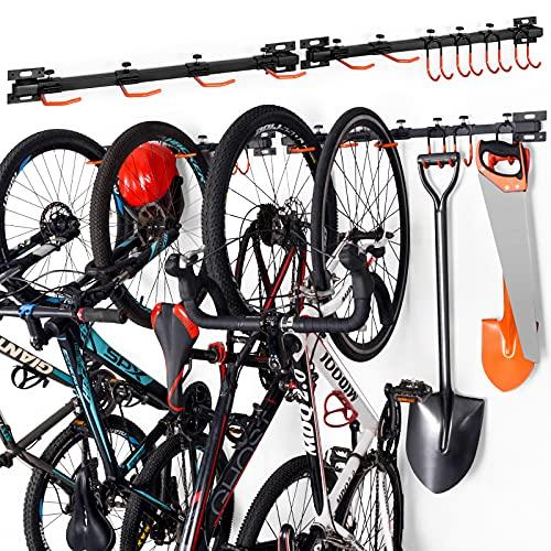 Soporte de Pared para Bicicletas,Colgador de Bici de Pared,Soporte aparcar para 6 Bicicletas,Soporte...*