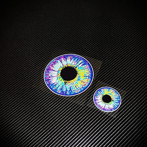 BUCUO Personalidad tótem Color pupila Ojo Pegatina Reflectante Caja de Coche Motocicleta eléctrica calcomanía